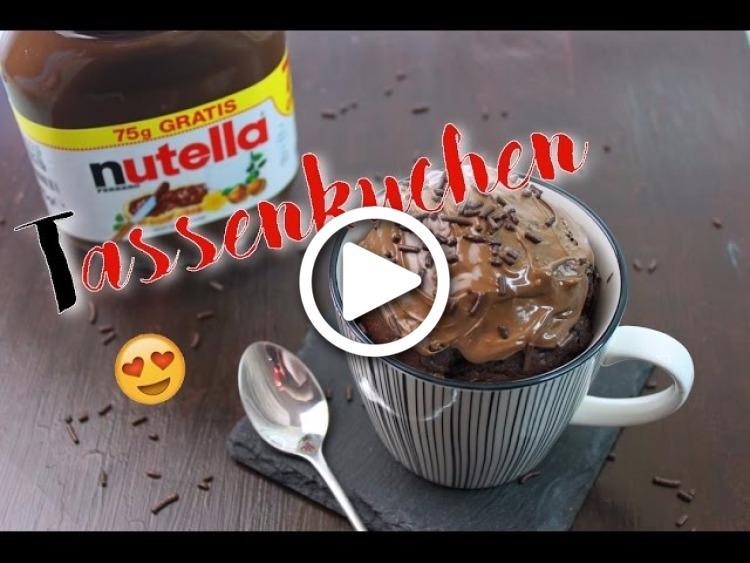 nutella tassenkuchen backen nutella kuchen schnell einfach selber machen nutella rezepte. Black Bedroom Furniture Sets. Home Design Ideas