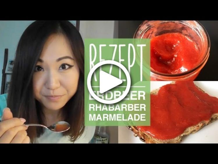 rezept erdbeer marmelade selber machen erdbeer rhabarber. Black Bedroom Furniture Sets. Home Design Ideas
